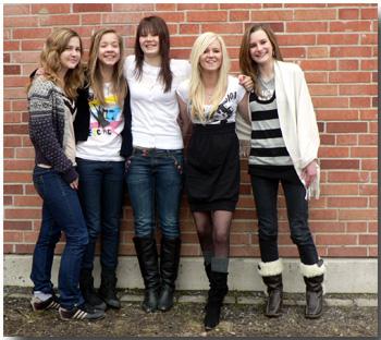 Från vänster: Jessica, Julia, Emelie, Johanna & Madeleine