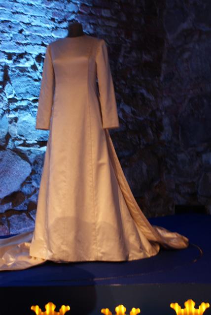 Drottning Silvias klänning från 1976 då hon gifte sig med Carl XVI Gustaf.