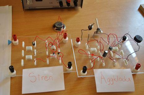 Eleverna i åskurs 7 jobbade bland annat med elektricitet.