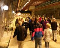 Elever i årskurs 8 besöker Käppala reningsverk.