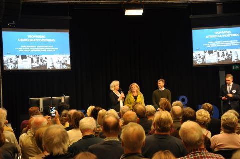 Paneldebatt med Ginna Lindberg (Ekots utrikeschef), Cecilia Uddén (Mellanösternkorrespondent) och Ivar Ekman (P1:s Konflikt).
