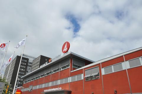 Fyrans entré på Tegeluddsvägen i Stockholm.