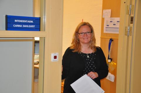 Vår nya intendent, Carina Dahlquist.