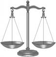 Åt vilken lagbok väger vågskålen över? Blå eller röd?