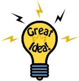 Goda idéer kan man aldrig få för många av.