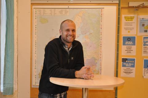 Björn, ny på Strandskolan, har svarat på Strandarens intervjufrågor.