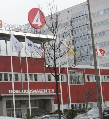 TV4-huset en förmiddag i mars 2013.