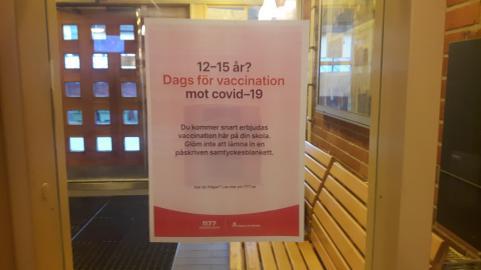 Snart dags för de elever i årskurs 6-9 som vill att vaccinera sig mot covid-19.