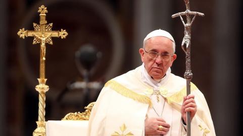 Bilden är från påvens besök i Venezuela 2016.