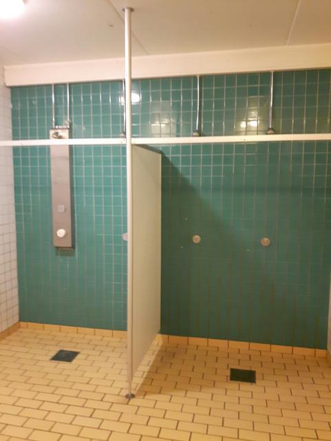 Duschrum Strandhallen i Tyresö.