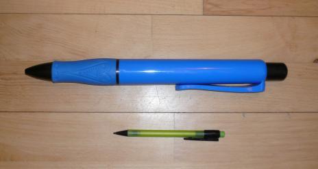 Ju större penna desto tunnare...innehåll i krönikorna, eller hur är det man brukar säga?