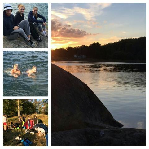Eleverna i årskurs 9 har startat läsåret med paddling och övernattning i tält.