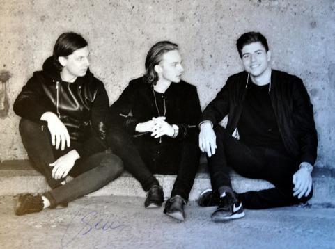 F.v. Oscar, Arvid och Dennis. Tillsammans är de SMILO.