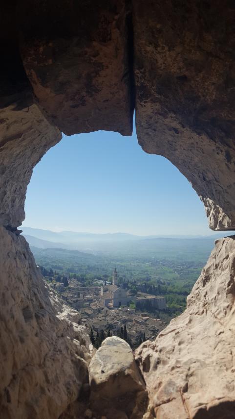 Utsikt över Assisi.