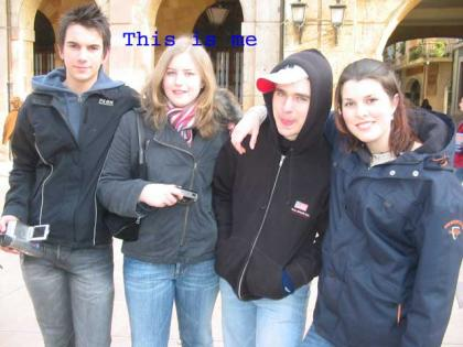 This is me and my friends when we visited Oviedo.