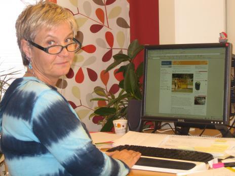 Lotta Anglén som jobbar med miljön i kommunen.