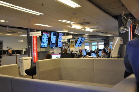 En arbetsdag på SVT Nyheter.