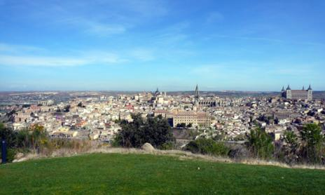 View of Toledo photographed from the Parador