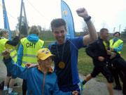 Tyresös snabbaste lärare Christer är nöjd efter segern.